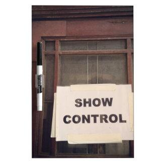 Show Control Dry-Erase Board