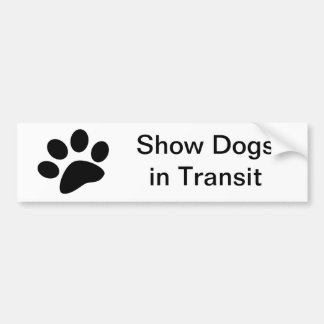 Show Dogs in Transit Bumper Sticker