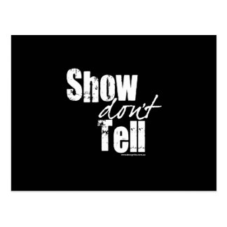 Show Don't Tell Postcard