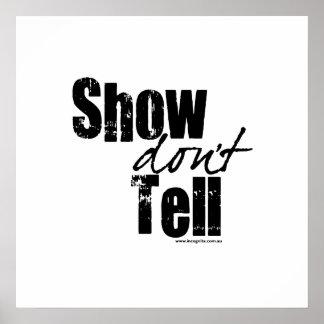 Show Don't Tell Print