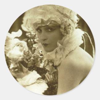 Show Girl 1920 Classic Round Sticker