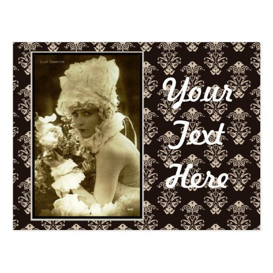 Show Girl 1920 Postcard