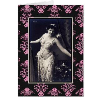 Show Girl circa 1920 Card