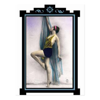 Show Girl Dancer Postcard