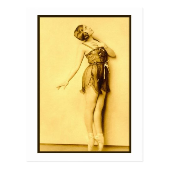 Show Girl Risque French Dancer Postcard