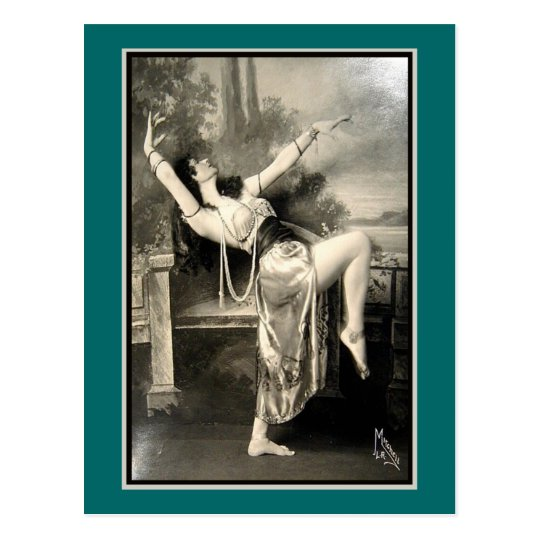 Show Girl Vintage Risque French Postcard