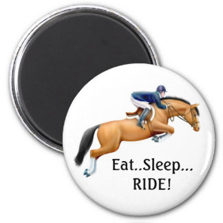Show Horse Eat Sleep Ride Magnet
