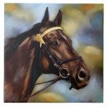 Show Horse Painting Ceramic Tile