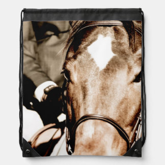 Show Horse Drawstring Bags