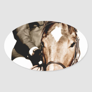 Show Horse Oval Stickers