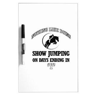 show jump designs Dry-Erase whiteboard