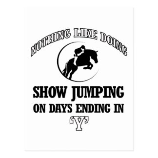 show jump designs postcard