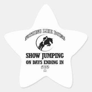 show jump designs star sticker