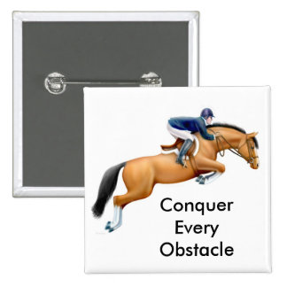 Show Jumper Conquer Every Obstacle Pin