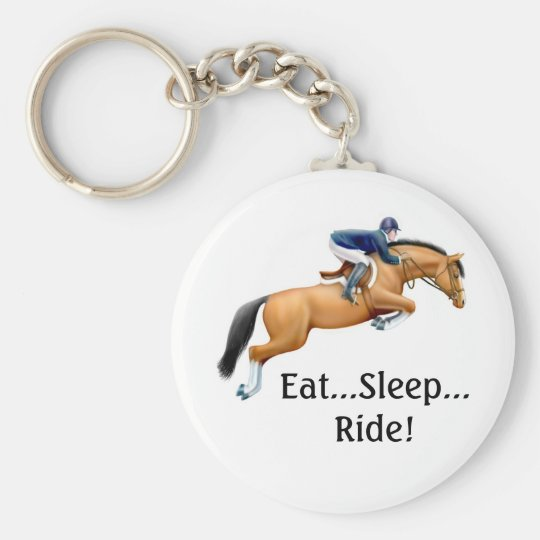 Show Jumper Eat Sleep Ride Keychain