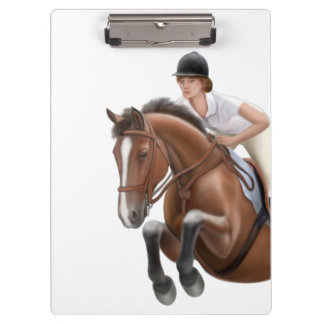 Show Jumper Equestrian Horse Clipboard