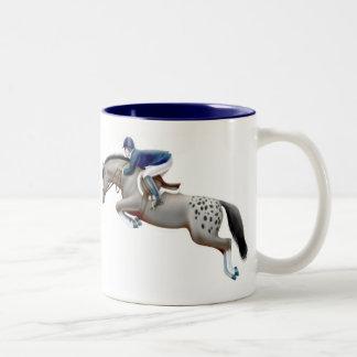 Show Jumper Grey Appaloosa Mug