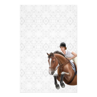 Show Jumper Horse Equestrian Stationery