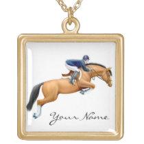 Show Jumper Horse Necklace