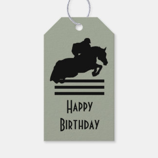 Show Jumper Silhouette for Horse Lovers Birthday Gift Tags