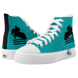 Show Jumper Silhouette for Horse Lovers High-Top Sneakers