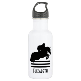Show Jumper Silhouette for Horse Lovers Water Bottle