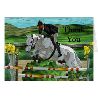 Show Jumper Thank You Card