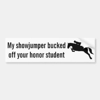 Show Jumping Bumper Sticker