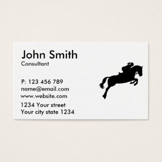Show jumping business card