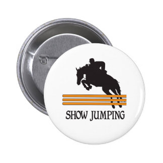 SHOW JUMPING 2 INCH ROUND BUTTON