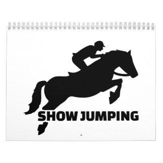 Show jumping calendar