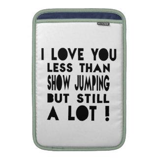 Show Jumping Designs MacBook Sleeves