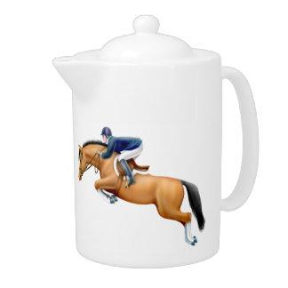 Show Jumping Equestrian Horse Teapot