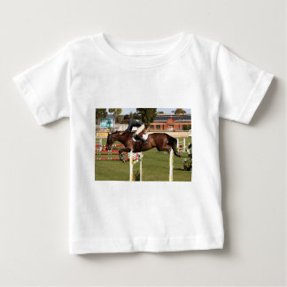 Show jumping horse and rider 2 baby T-Shirt