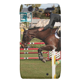 Show jumping horse and rider 2 motorola droid RAZR case