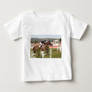 Show jumping horse and rider baby T-Shirt