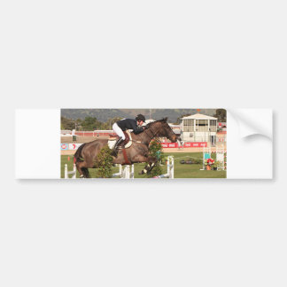 Show jumping horse and rider bumper sticker