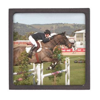 Show jumping horse and rider premium keepsake box