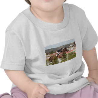 Show jumping horse and rider t-shirts