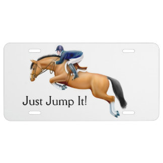 Show Jumping Horse Equestrian License Plate