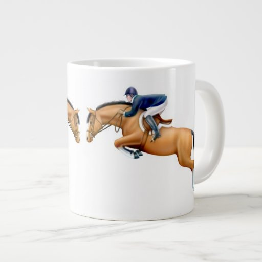Show Jumping Horse Equestrian Mug Jumbo Mugs