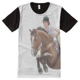 Show Jumping Horse Equestrian Panel Shirt
