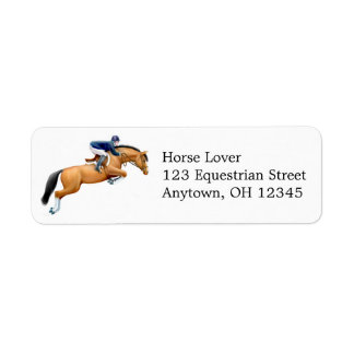 Show Jumping Horse Label