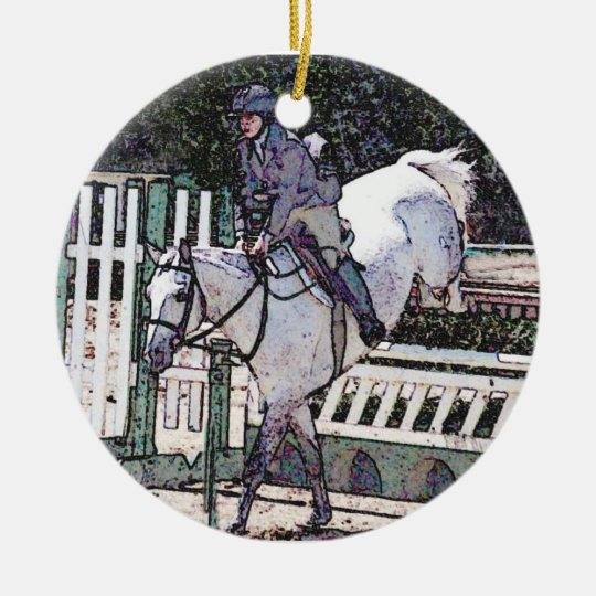 Show Jumping Horse Ornament