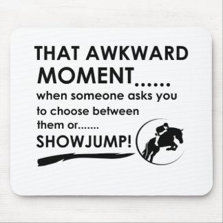Show Jumping Sports Designs Mouse Pad