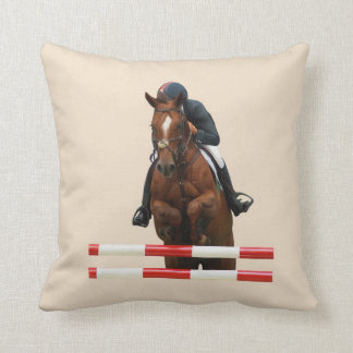Show Jumping Square throw pillow