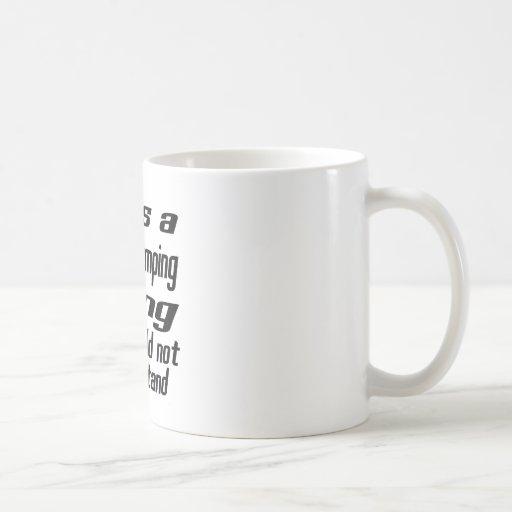 Show Jumping THING DESIGNS Classic White Coffee Mug