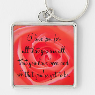 Show Love With A Rose Keychain