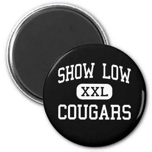 Show Low - Cougars - High - Show Low Arizona Magnets