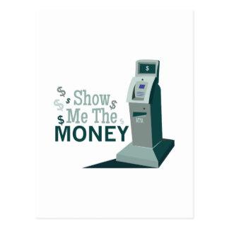 Show Me Money Postcard